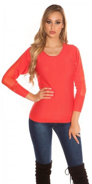 Trendy KouCla Pullover mit Reißverschluss