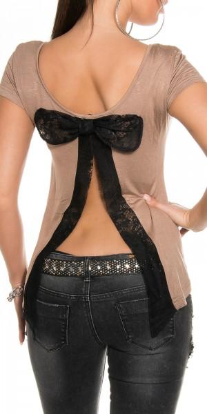 Sexy KouCla Shirt mit sexy Rücken mit Schleife