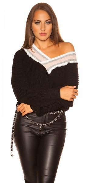 Sexy KouCla V-Cut Crop Pullover