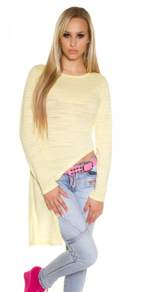 Trendy KouCla Langarmshirt asymmetrisch