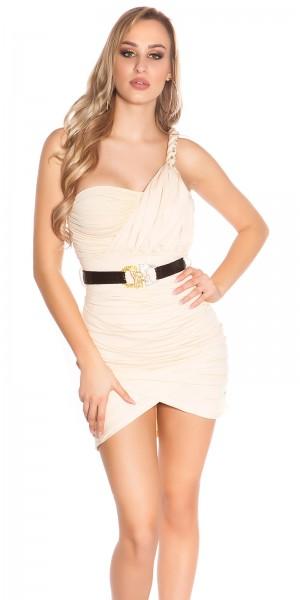 Sexy One-Arm-Minikleid mit Gürtel