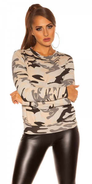 Trendy  KouCla SweatShirt in Armylook