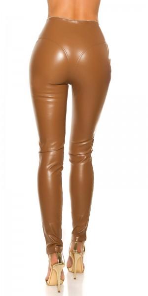 Sexy KouCla Lederlook-HOSE mit Zips