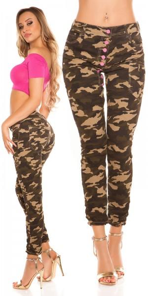 Trendy Koucla Army-Skinnies m. tiefem Schritt