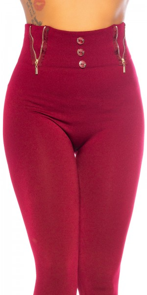 Sexy Highwaist Fashion Thermo Leggings/Zip Detail