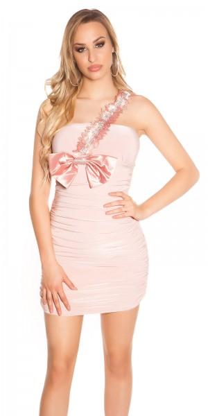 Sexy Partykleid mit XL-Schleife und Strass