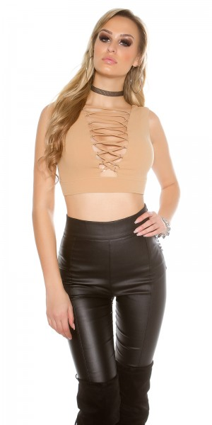 Sexy KouCla Crop Top mit Schnürung