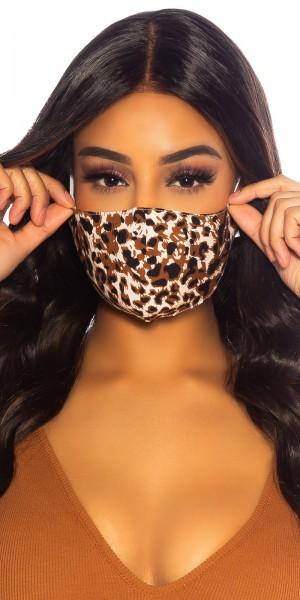 Trendy Gesichtsmaske mit Muster