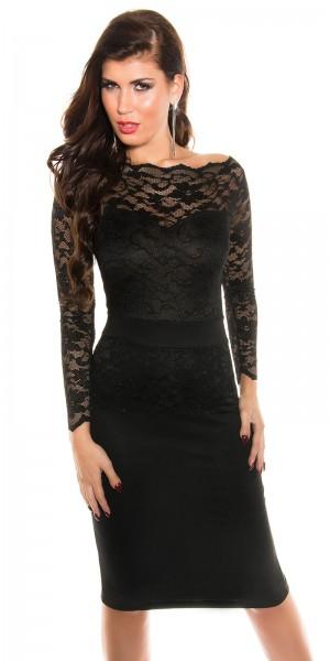 Sexy KouCla Midi-Dress mit Spitze
