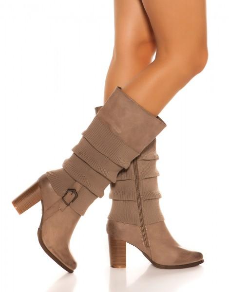 Trendy Stiefel mit Stulpenoptik