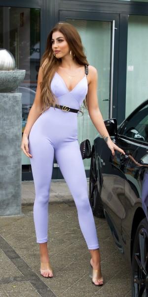 Sexy Fashionista Overall mit Gürtel