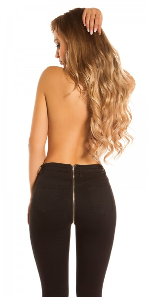 Sexy Skinny Jeans mit Zip hinten