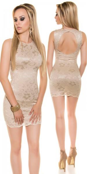 Sexy Minikleid mit Spitze und Rückenausschnitt