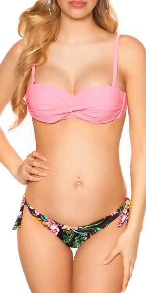 Sexy Bi Color push Up  Bikini m. abnehmb. Träger