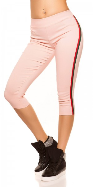 Trendy Workout Capri Leggings mit Streifen