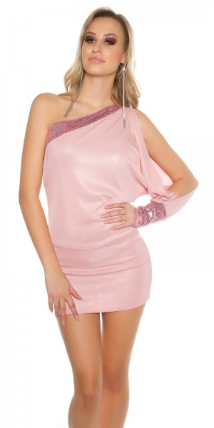 Sexy One-Arm-Kleid mit Pailletten
