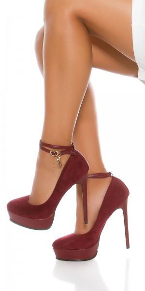 Sexy Plateau High heels Wildlederoptik